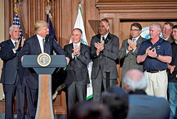 Trump da el primer paso contra cambio climático