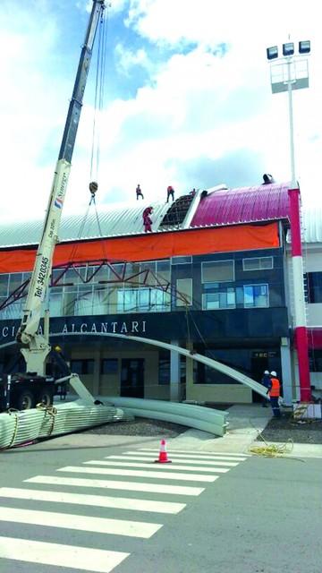 Concluyen el cambio de la cubierta en Alcantarí
