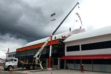 Synergy concluye con el colocado de la nueva cubierta de Alcantarí