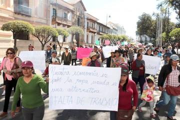 Protesta de ropavejeros hace sentir su poderío