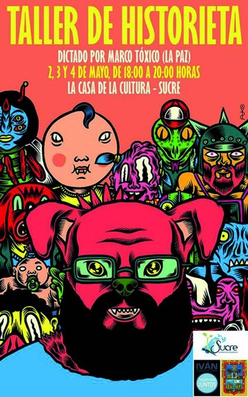 Diseñador Marco Tóxico inicia taller de historieta