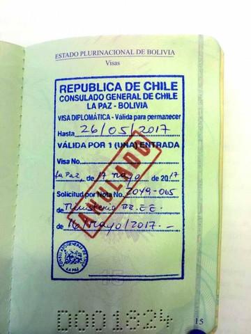 Chile niega visa a Arce; no acudirá a audiencia del 25