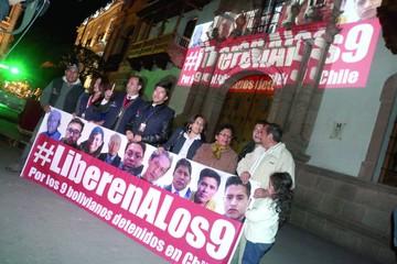 Se cumplen dos meses de la detención de los 9 en Chile