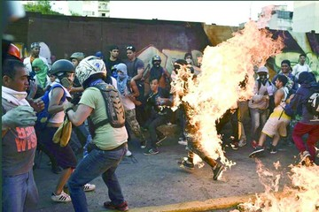 Venezuela: Queman vivo a joven y suman víctimas