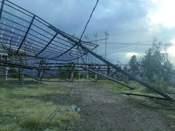 Fuertes vientos provocan serios destrozos en Sucre