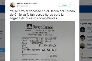 Bolivia paga la multa de los 9 bolivianos y el Gobierno espera su retorno