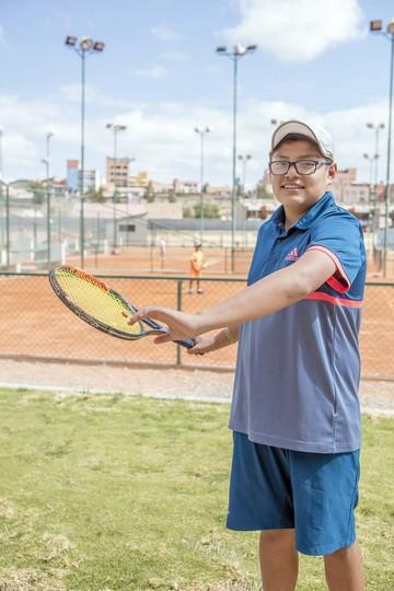 Santiago Vedia el tenis como una forma de crecimiento