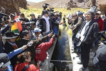 Evo Morales cree que la demanda de Chile por el Silala es artificial