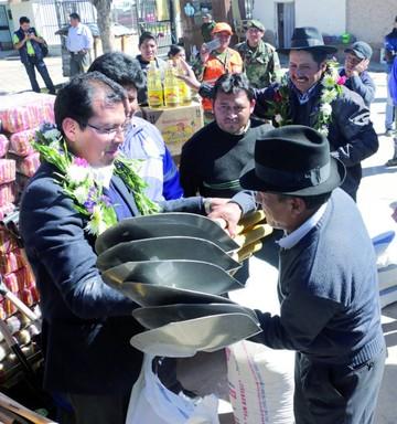 Los municipios afectados reciben ayuda