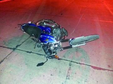 Moto de accidente fatal no tenía placa de control