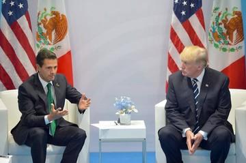Trump insiste en el muro aun delante de Peña Nieto