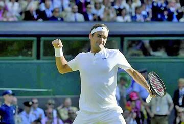 """Federer, el único """"grande"""" con vida en Wimbledon"""