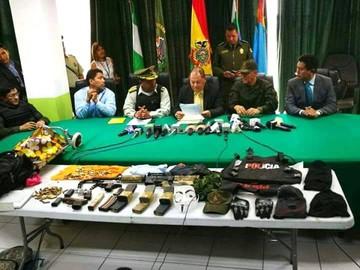 El Ministro de Gobierno felicita a la Policía tras sucesos en atraco frustrado
