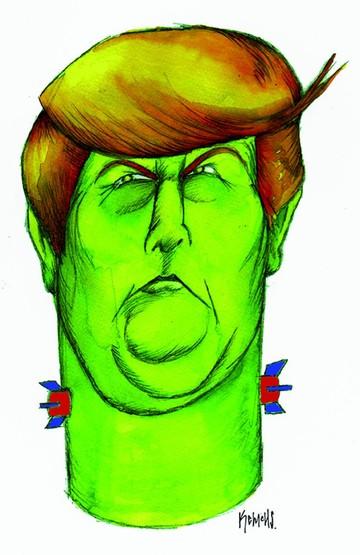 Caricaturistas enfrentan a Trump con el arma del humor