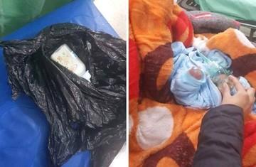 Encuentran con vida a un bebé recién nacido abandonado en Sucre