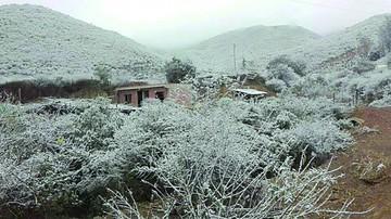 Suspenden clases por nieve y escarcha en municipios