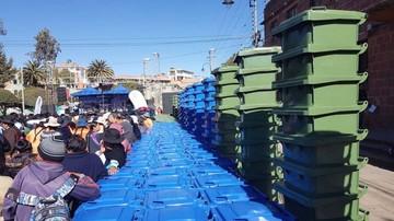Fancesa entrega a la Alcaldía de Sucre 1.241 contenedores de basura