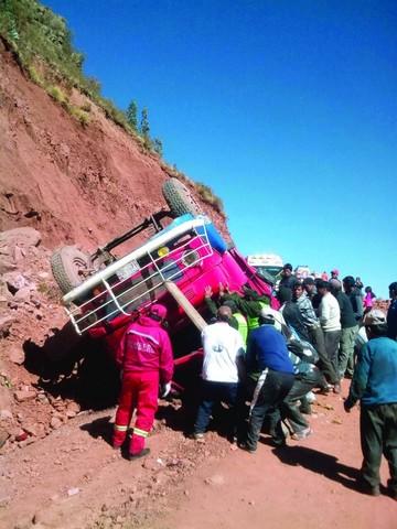 Vuelco de camión deja cuatro fallecidos en la ruta a Chaunaca