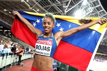 Venezolana Rojas arrebata a colombiana Ibargüen el cetro mundial de triple salto