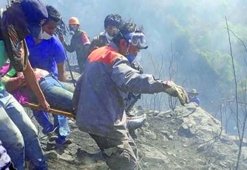 Se extingue incendio en Tarija con tres muertos