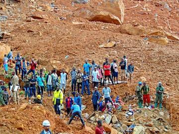 Avalancha en Sierra Leona deja cientos de muertos