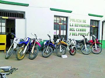 Más de 20 encarcelados por robo de motocicletas
