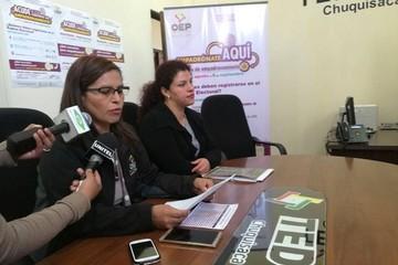 En Chuquisaca se registraron 19.226 ciudadanos en la etapa de empadronamiento