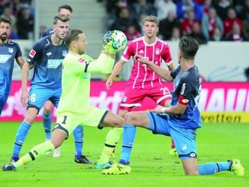 El Hoffenheim  provoca el primer  revés del Bayern