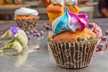 Muffins Con Miel Y Arándanos