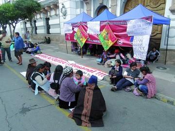 Artesanos instalan huelga demandando presupuesto