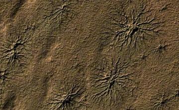 ¿Por qué las arañas de Marte no están donde deberían?