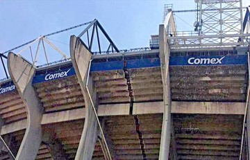 Temblor afecta al estadio Azteca y postergan cotejos