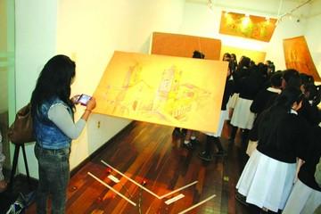 Sanz expone lo mejor de Sucre en pintura