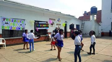 Internos de los centros de acogida en festejo