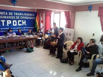Candidatos al Órgano Judicial por Chuquisaca comparecen frente a las Bartolinas