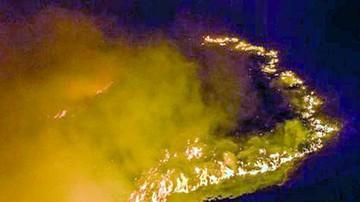 Llovizna aplaca el fuego sobre la reserva del Iñao