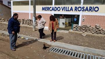 Rajaduras en el mercado Villa Rosario preocupan a comerciantes