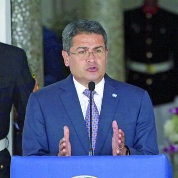El Presidente  quiere apoyo para Honduras