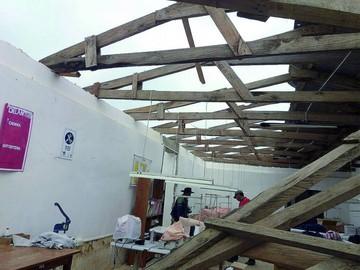 Susto y daños en Villa Serrano por potentes vientos