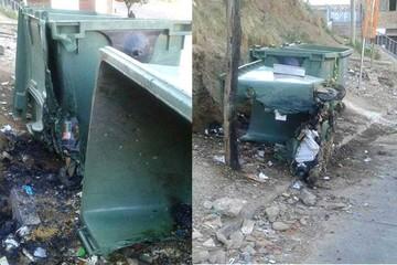 Sucre: Antisociales queman dos contenedores de basura