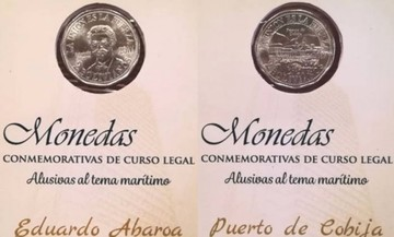 BCB pone en vigor dos monedas para conmemorar la demanda marítima a Chile