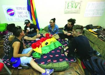 Comunidad LGTBI no se rinde y mantiene huelga