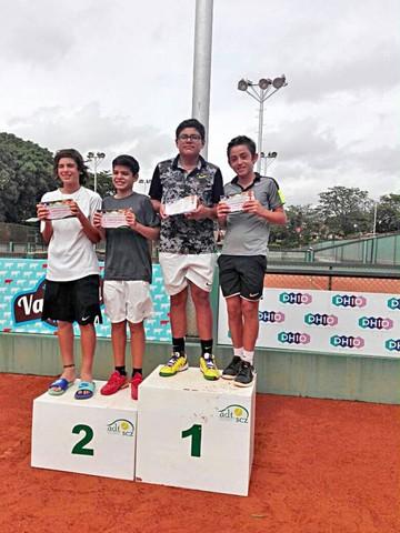 Chuquisaqueños brillan en Torneo Patujú de Tenis