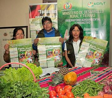 Domingo en Sucre: Feria  del precio y peso justo