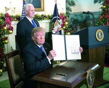Trump reaviva conflicto entre Israel y Palestina