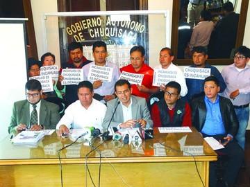 Chuquisaca invita a Santa Cruz a dialogar respecto a Incahuasi