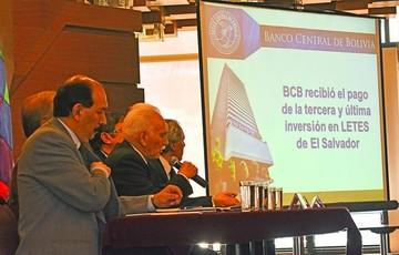 BCB cierra inversión en letras de El Salvador