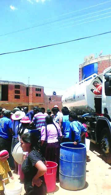 Vuelve la crisis del agua a las zonas altas de Sucre