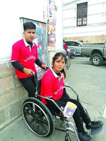 Personas con discapacidad en campaña
