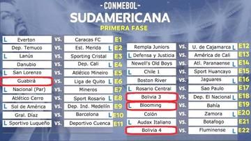 Equipos bolivianos se enfrentarán a rivales ecuatorianos y brasileños